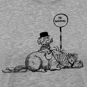 Thelwell 'No waiting' T-shirts - Mannen Premium T-shirt
