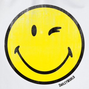 SmileyWorld Zwinkernder Smiley Used Look - Turnbeutel