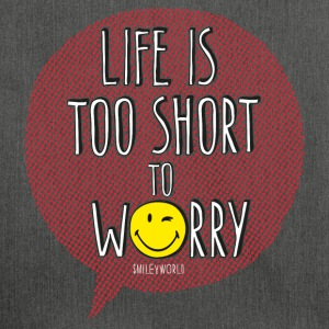 SmileyWorld Life it too short to worry - Torba na ramię z materiału recyklingowego