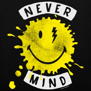 SmileyWorld Never Mind Splash Smiley - Stoffbeutel