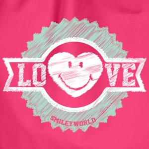 SmileyWorld Love Badge - Drawstring Bag