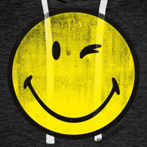 SmileyWorld Classic Wink Smiley - Bluza męska Premium z kapturem