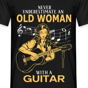 Never Underestimate An Old Woman With A Guitar.png T-Shirts - Men's T-Shirt