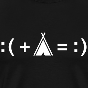 Formula For Happiness (Camping) T-shirts - Herre premium T-shirt