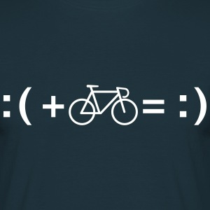 Formula For Happiness (Bike) T-Shirts - Men's T-Shirt