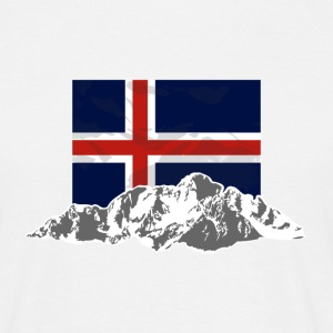 Iceland - Flag & Mountains T-Shirts - Männer T-Shirt