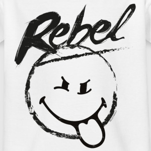 SmileyWorld Rebel Rebellischer Smiley - Kinder T-Shirt
