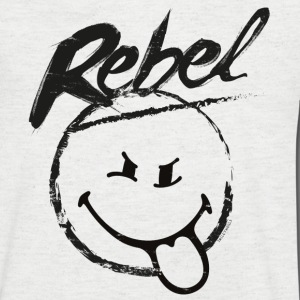 SmileyWorld Rebel Smiley - Herre T-shirt med V-udskæring