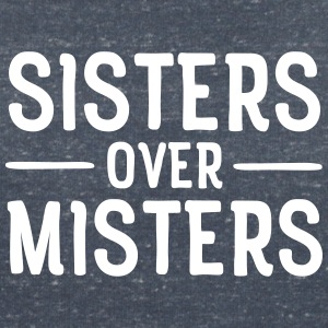 Sisters Before Misters T-shirts - Vrouwen T-shirt met V-hals