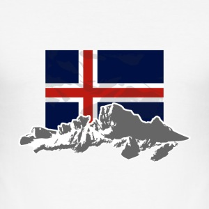 Iceland - Flag & Mountains T-Shirts - Männer Slim Fit T-Shirt