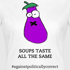 Aubergine against censorship - Women's T-Shirt