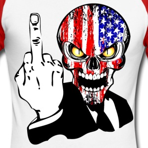 USA skull fuck Manches longues - T-shirt baseball manches longues Homme