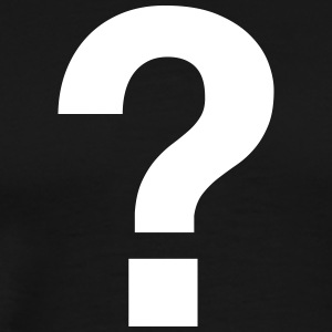 QUESTION MARK FRAGEZEICHEN black white men premium - Männer Premium T-Shirt