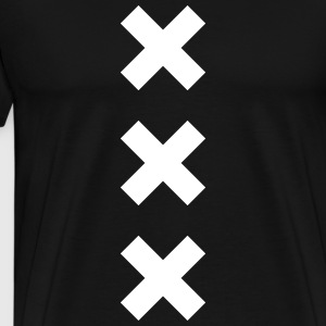 XXX CROSS VERTICAL black white men - Männer Premium T-Shirt