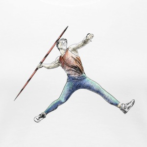 javelin throw T-shirts - Premium-T-shirt dam