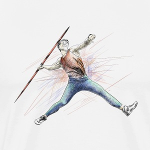 javelin throw T-shirts - Premium-T-shirt herr