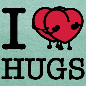 I Heart Hugs T-Shirts - Women's T-shirt with rolled up sleeves
