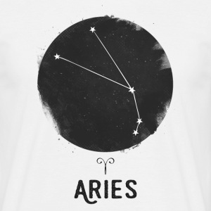 Minimal Aries Zodiac Sign T-Shirts - Men's T-Shirt