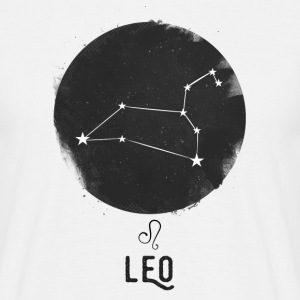 Minimal Leo Zodiac Sign T-Shirts - Men's T-Shirt
