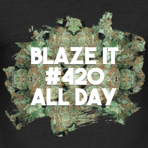 Blaze it #420 all day T-Shirts - Männer Slim Fit T-Shirt