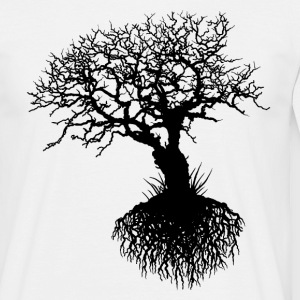 OAK TREE ROOTS white men - Männer T-Shirt