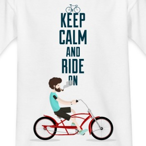 KEEP CALM AND RIDE - 816 - 3 T-Shirts - Teenager T-Shirt