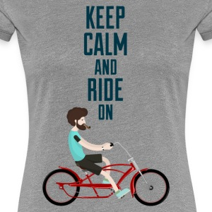 KEEP CALM AND RIDE - 816  - 2 T-Shirts - Frauen Premium T-Shirt