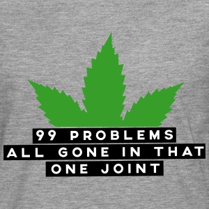 99 problems all gone in that one joint Langarmshirts - Männer Premium Langarmshirt