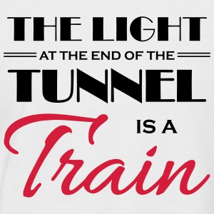 The light at the end of the tunnel is a train Tee shirts - T-shirt baseball manches courtes Homme