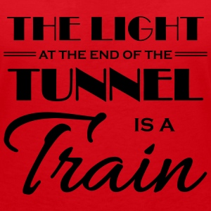 The light at the end of the tunnel is a train Tee shirts - T-shirt col V Femme