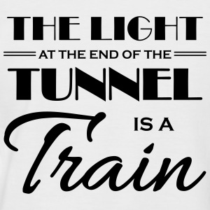 The light at the end of the tunnel is a train T-shirts - Kortärmad basebolltröja herr
