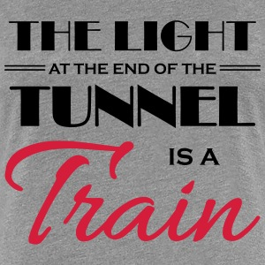 The light at the end of the tunnel is a train T-Shirts - Frauen Premium T-Shirt