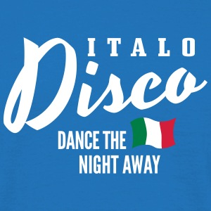 Italo Disco - Dance The Night Away Koszulki - Koszulka męska
