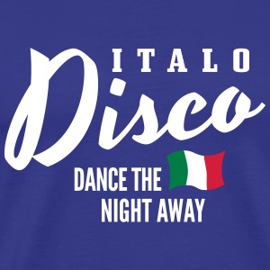 Italo Disco - Dance The Night Away T-skjorter - Premium T-skjorte for menn