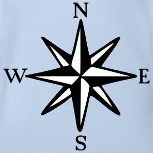 Compass Rose One-Piece (two-color) - Organic Short-sleeved Baby Bodysuit