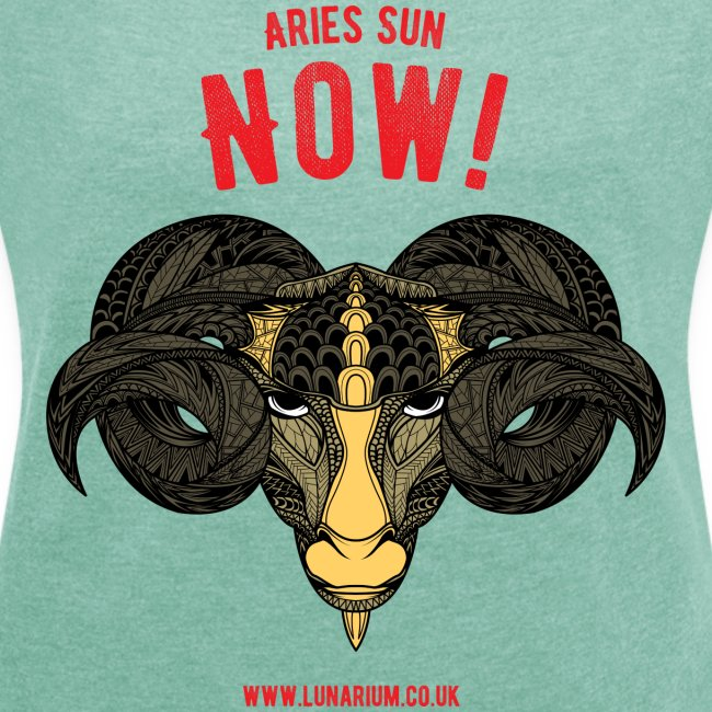 Aries Sun Women's T-shirt with rolled up sleeves