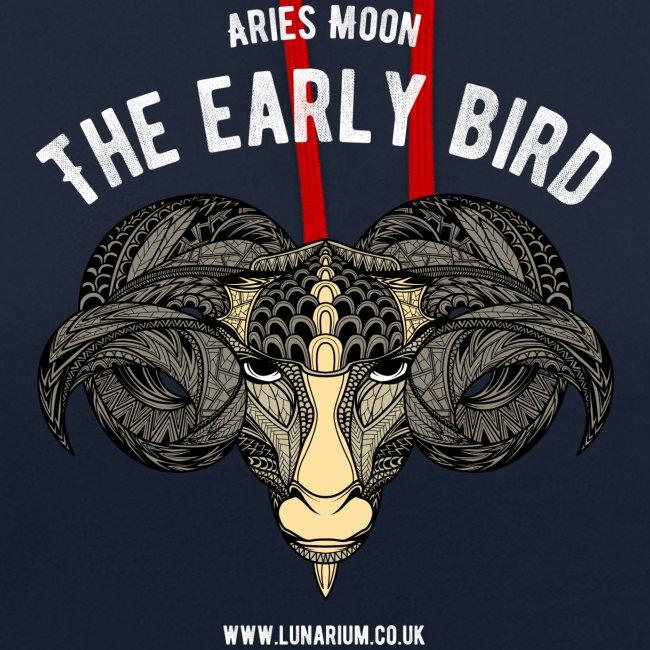 Aries Moon Contrast Colour Hoodie