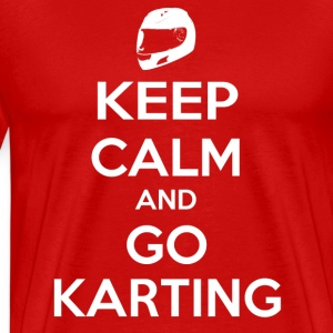 Keep Calm and Go Karting T-Shirts - Men's Premium T-Shirt
