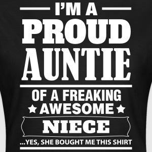 I'm A Proud Auntie Of A Freaking Awesome Niece T-Shirts - Women's T-Shirt