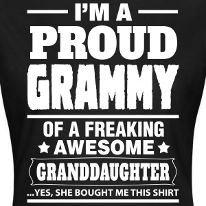 Proud Grammy Of A Freaking Awesome Granddaughter T-Shirts - Women's T-Shirt