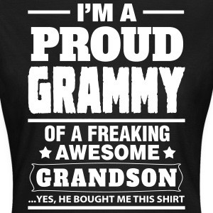 Proud Grammy Of A Freaking Awesome Grandson T-Shirts - Women's T-Shirt
