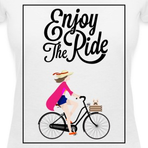ENJOY THE RIDE - 816 - 5 T-Shirts - Frauen T-Shirt mit V-Ausschnitt