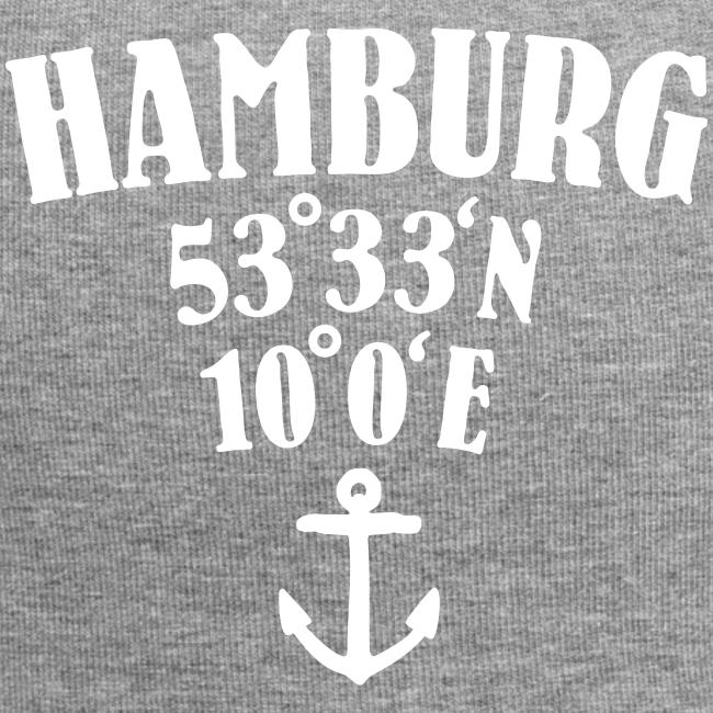 Hamburg Koordinaten (Anker) Mütze