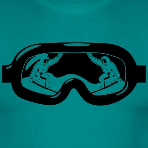 Winter holidays snowboard goggles T-Shirts - Men's T-Shirt