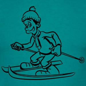 Winter holiday ski pass sports snow T-Shirts - Men's T-Shirt