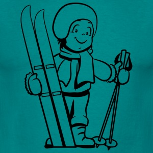 Winter holiday ski pass child T-Shirts - Men's T-Shirt