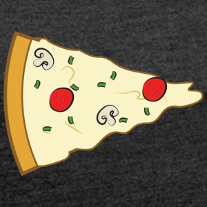 Pizza Couple (Part 2) T-Shirts - Frauen T-Shirt mit gerollten Ärmeln