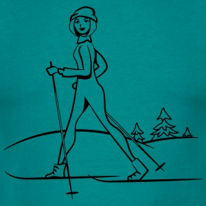 Winter vacation skilanglauf sport T-Shirts - Men's T-Shirt