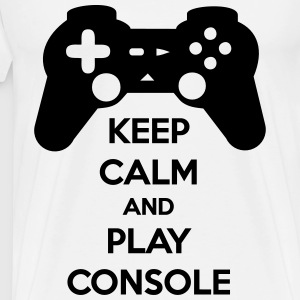 T-shirt Gaming KEEP CALM AND PLAY CONSOLE - Men's Premium T-Shirt