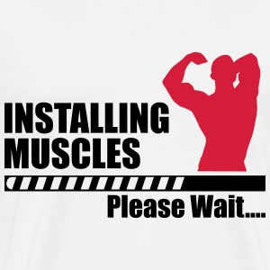 T-shirt GYM Installing muscles - Men's Premium T-Shirt